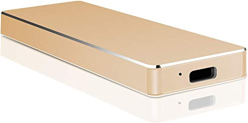 External Hard Drive 1TB 2TB Type C Portable Hard Drive External HDD Compatible for Mac Laptop and PC(1TB Golden)