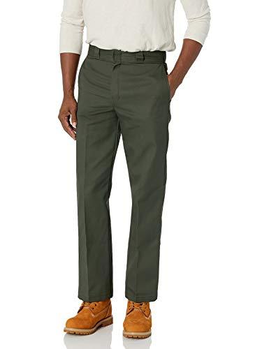 Dickies Men's Original 874 Work Pant, Olive Green, 34W x 32L
