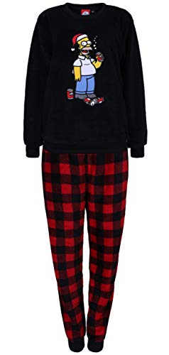 Schwarz-roter Schlafanzug für Herren Die Simpsons Large