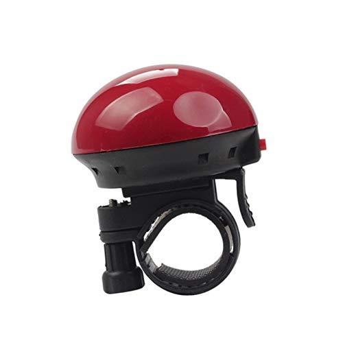Hermoso y Duradero Alto Decibel Bicycle Bell Bell Biki Mountain Bike Horn Ciclismo Alarma de Seguridad Decoración de Bicicletas (Color : Red)