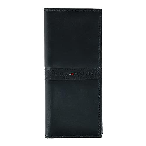 Tommy Hilfiger Men's Leather Ranger RFID Checkbook Secretary Wallet, Black