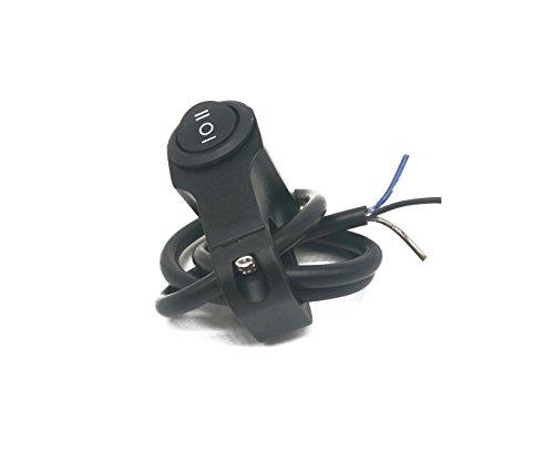 JFYCUICAN Motocicleta del pie Interruptor de la Motocicleta Interruptor de los Faros Delanteros Uno en Interruptor de Dos Salidas Interruptor Retro con Tres líneas