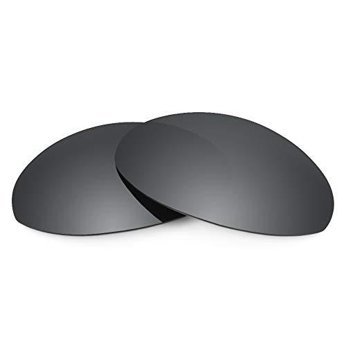 Revant Verres de Rechange Compatibles avec Oakley Romeo 1, Non Polarisés, Chrome Noir MirrorShield