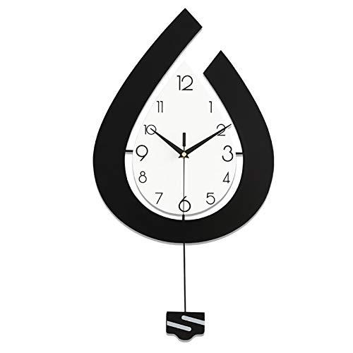 HongHe Reloj de Pared nórdico, Reloj Creativo y de Moda para Sala de Estar, Reloj de decoración doméstica Moderna y Simple, M