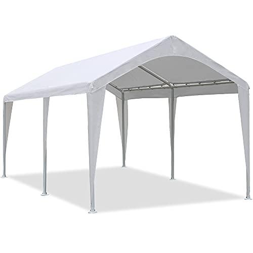 Abba patio 10x20 ft heavy duty carport car canopy portable garage boat...