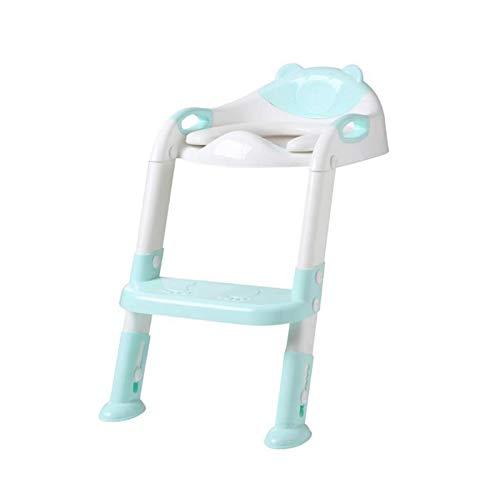 inodoro para niños Silla de entrenamiento para niños para niños Escalera ajustable Capacitación plegable Asiento de entrenamiento para niños Portátil portátil para niños precioso ( Color : 02 )