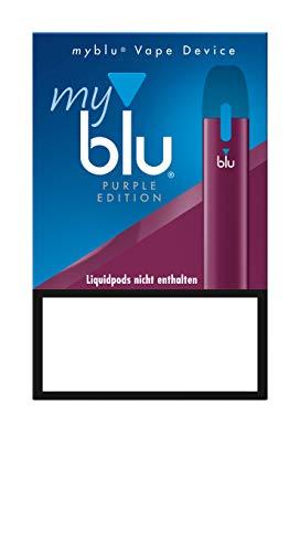 Purpurne E-Zigarette myblu Vape Device/ohne Tabak/ohne Nikotin/ohne Pods - 350 mAh mit USB Ladestecker und tollen Zugaben wie Hygieneset 1