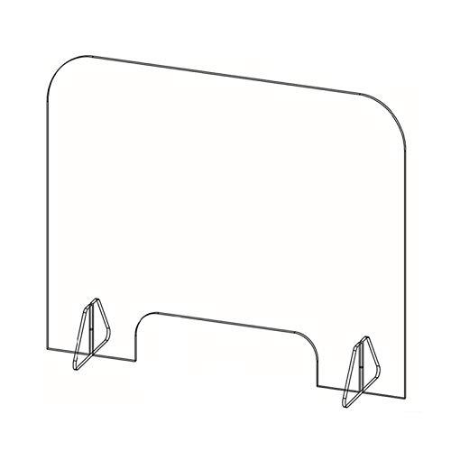 ALGFree-Abdeckhauben für Möbelsets Schreibtischtrennwände Ablenkplatte Zu Schützen Tragbar Zähler Sicherheit Klar Schutzbarriere Zum Cafe Pub Bar Salon Schreibtisch (Color : Clear, Size : 50x70cm)