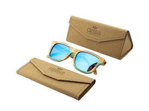 Gafas de sol madera MOSCA NEGRA modelo BAMBOO and Blue - Polarized - Unisex