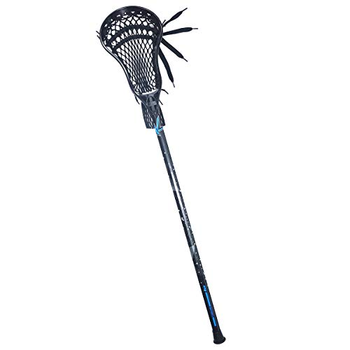 CAKLOR Lacrosse Complete Attack/Midfield Stick with Shaft & Head Mens-1 Stick,Black