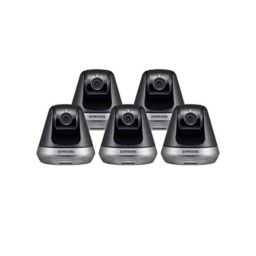 Samsung SNH-V6410PN SmartCam Pan/Tilt Full HD 1080p Wi-Fi IP Camera Bundle Five Pack (Renewed)