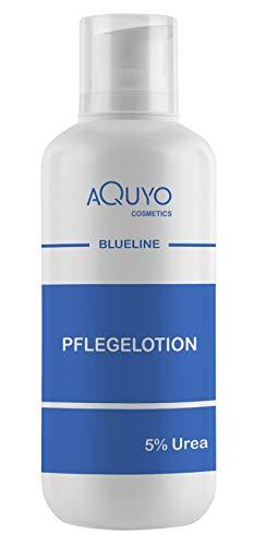 Blueline 5% Urea Creme Lotion, Körperlotion für trockene Haut, Feuchtigkeitslotion bei empfindlicher Haut, Neurodermitis, Juckreiz oder Psoriasis, feuchtigkeitsspendende Bodylotion zur Hautpflege (500ml Spender)