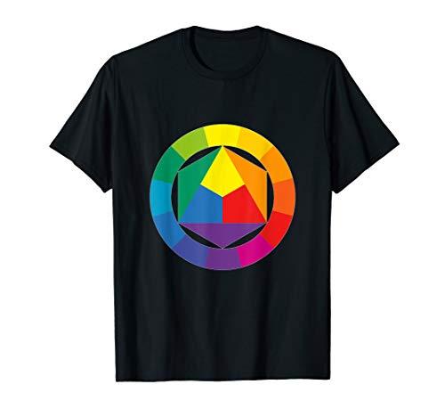 Farbrad Palette Hemd Künstler Maler Kunstlehrer T-Shirt T-Shirt