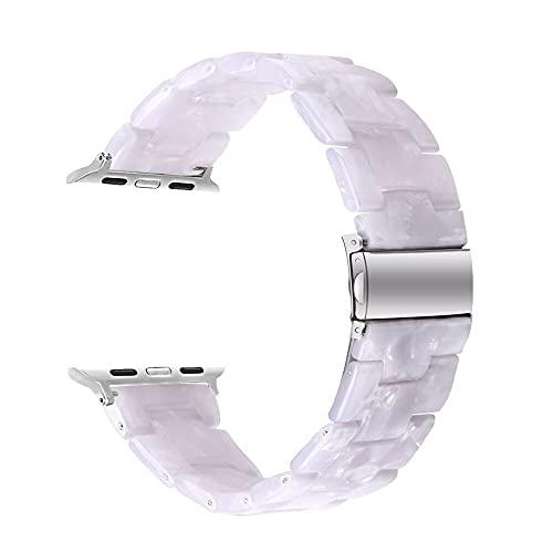 Hspcam Correa de reloj de resina para Apple Watch de 44 mm, 40 mm, iwatch Series 5, 4, 3, 2, 1, correa de 42 mm, 38 mm, hebilla de metal, accesorios de pulsera (38 mm o 40 mm, 9)