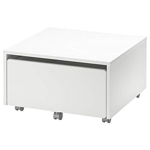 DiscountSeller SLÄKT - Caja de almacenaje con ruedas, 62 x 62 x 35 cm, resistente y fácil de cuidar, cama individual infantil, camas, muebles ecológicos