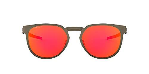 Oakley Unisex-Erwachsene 0OO4137 Sonnenbrille, Mehrfarbig (Pewter / Prizm Ruby), 55