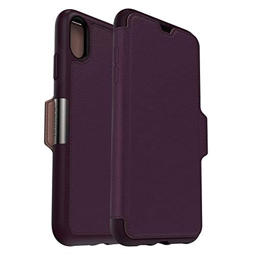 OtterBox Strada Etui - Elegante, sturzsichere Folio Schutzhülle aus echtem Leder für iPhone Xs Max, violett