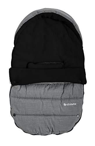 AltaBeBe AL2004P-02 Winterfußsack für Babyschale und Autositz, hellgrau/schwarz, grau, 350 g