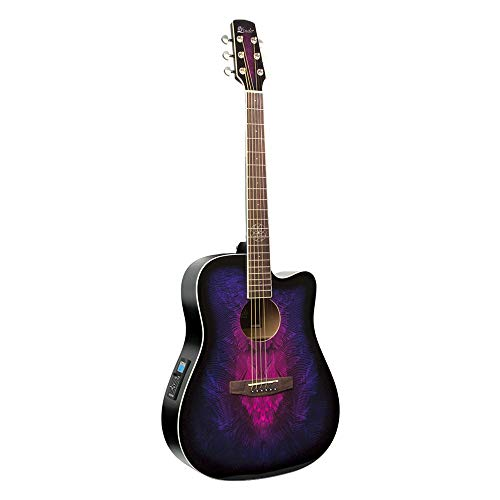 Lindo Purple Swallow Electro Acoustic Guitar with Dreamcatcher Inlay & Gig Bag