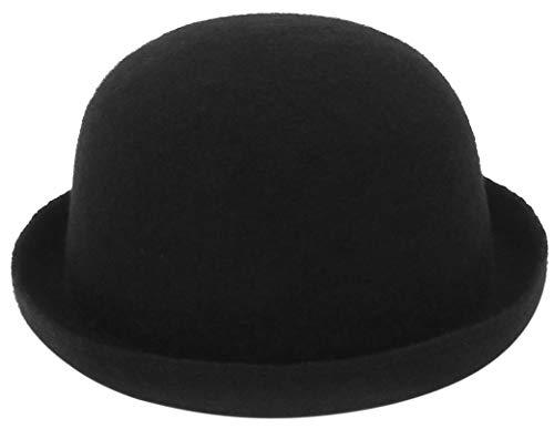 Jelord Sombrero Mujer Invierno Estilo Vintage Sombrero de Lana para Mujer Comódo Sombrero de Vestir Clásico Elegante Sombrero Bombín Térmico Sombreros Bucket