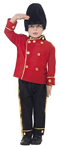 Smiffys-26859M Disfraz de Guardia Alto, con Top, Pantalones y Gorro, Color Rojo, One Size (26859M)