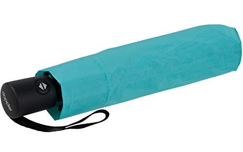 Zero*Magic der Ultra leichte & kompakte Regenschirm von doppler mit Auf-Zu Automatik bei Einem Gewicht von nur 176 Gramm Aqua Blue