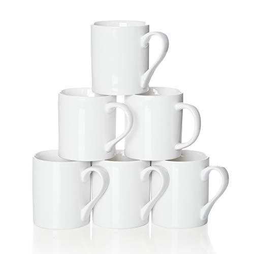 Amoi Ceramic Coffee Mug Set, Coffee Cup Set, Coffee Mug with Handle, 8 Oz White Coffee Cup for...