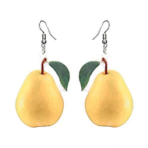 Liqiqi - Pendientes Colgantes para Mujer, diseño de Fruta y Fruta, Personalizables, Ideales para Cualquier ocasión, Casual, para niña