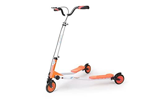 Patinete niña | Patinete niño | Patinetes para niños no eléctricos Speeder-Fun | Peso MAX 85 Kg. | Peso Neto 7 Kg | Rueda 125 mm PU | Negro - Azul.