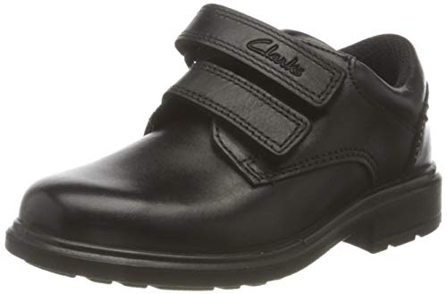 Clarks Remi Pace T, Zapatos de Vestir par Uniforme, Piel Negra, 25 EU