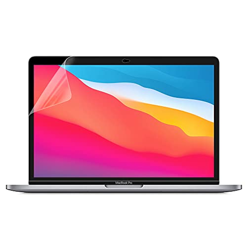 ProElife 2-Pack Crystal Clear Screen Protector for 2021-2020 Macbook Pro 13-Inch Apple M1 Chip A2338 and 2020-2016 Macbook Pro 13'' Touch Bar A2289 / A2251 / A2159 / A1989 / A1706 Accessories (Clear)