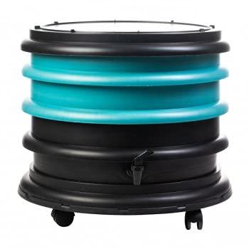 WormBox: Vermicompostador 2 bandejas Turquesa - 32 litros - Recicle Sus desechos orgánicos en Fertilizantes para Sus Plantas