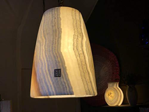 Maison Zoe piedra de alabastro lámpara suspendida - luz natural - Decoración - hecho a mano - luz suave