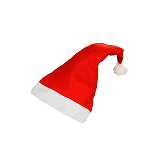 R&F srls 10 Cappellini Cappellino Cappello Babbo Natale Buone Feste Auguri Feltro 27/28cm