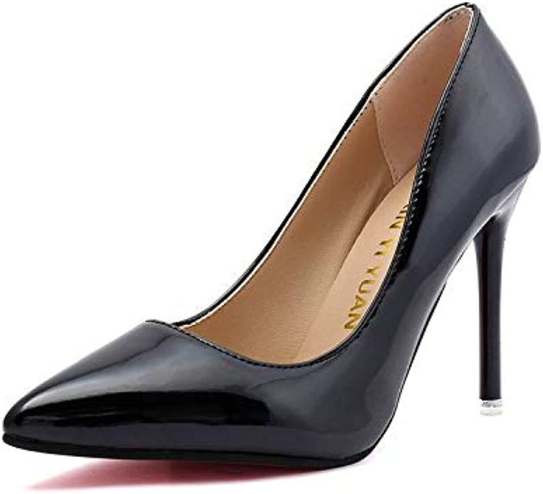 HOESCZS High Heels Große Größe Mode High Heel Frauen Schuhe Frühjahr Und Sommer Neue Ultra High Heel Mode Schuhe Stiletto Spitzen Flachen Mund Einzelne Schuhe Frauen    Verschiedene aktuelle Designs