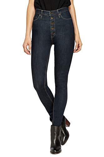 Hybrid & Company Womens Super Stretch 5 Button Hi Waist Skinny Jeans Indigo 11