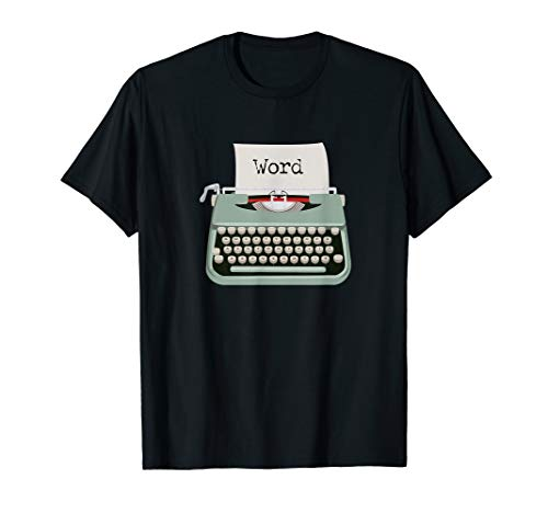 Typewriter Word T-shirt for Men or Women, many colours