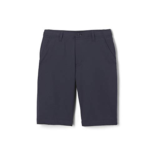 French Toast Boys' Big Flat Front Performance Stretch Short, Navy, 10