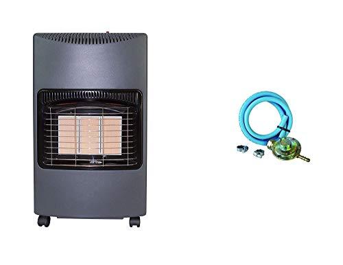 XONE Kit Stufa GPL + REGOLATORE Bassa Pressione Fissa + Fascette | Potenza Stufa da 1.5kw a 4.1kw, Pressione Gas 28-30 mbar, Riscaldamento rapido, Risparmio energetico