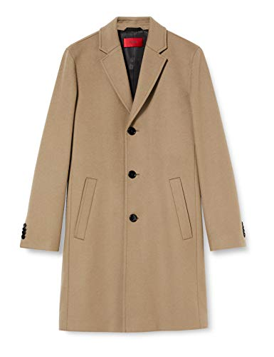 HUGO Malte2041 Dress Coat, Color marrón Claro (238), 46 para Hombre