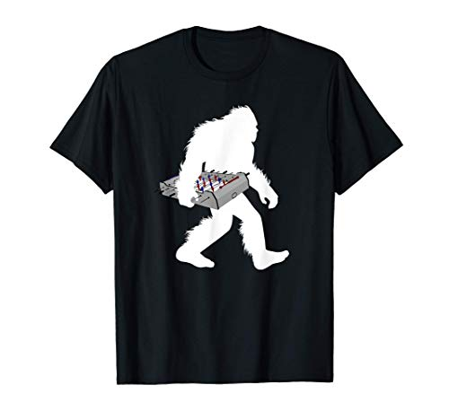 Bigfoot Carrying Foosball Table Football Game Sasquatch T-Shirt