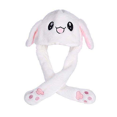 L-entcy Gorra de la oreja del conejo en movimiento de la moda de la personalidad Airbag móvil Niños y Niñas Niños Invierno Viaje Cap Peluche Regalo para Bebé Niña Invierno Cap Inocente Capó