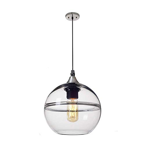 YXZQ New Glass Spherical Pendant Lamp 3D Plating Color Lampshade Ceiling Light Creative Nebula Hanging Lamp for Living Room Bedroom Kitchen Island