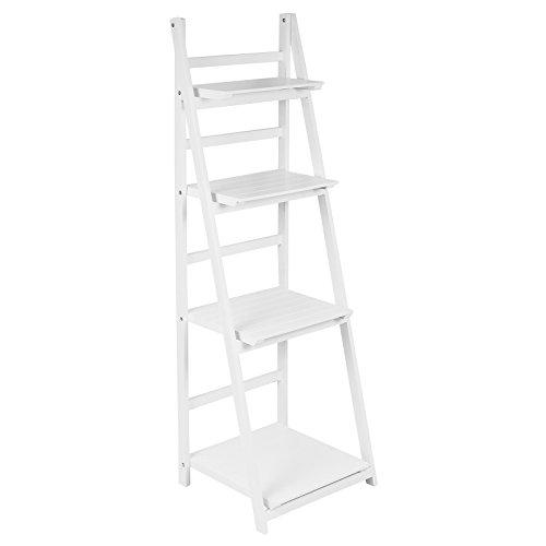 Hartleys - Leiterregal mit 4 Böden - zusammenklappbar - weiß