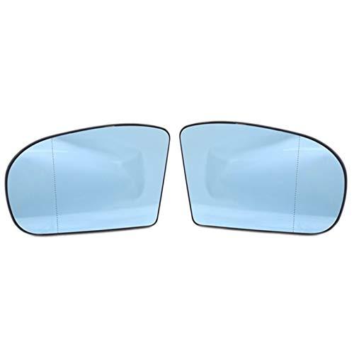 LiHaQin 1 Pareja Derecha y Izquierda Lateral retrovisor reemplazo de Vidrio para Mercedes Benz W203 W211 00-06 2038100121 2038101021 LiHaQin