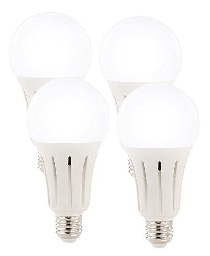 Luminea Tageslicht Lampen: High-Power-LED-Lampe E27, 24 Watt, 2.452 Lumen, 6.500 K, 4er-Set (LED Tropfen)