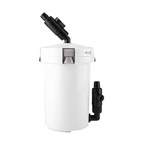 Zerodis HW-602/603/HW-602B/HW-603B Aquarium-Filterzubehör Außenfilter Kanisterfilter für Süßwasser Meerwasser Aquarium Seegras Tank Aquarium Aquarium Fischtank (HW-603B,220V)
