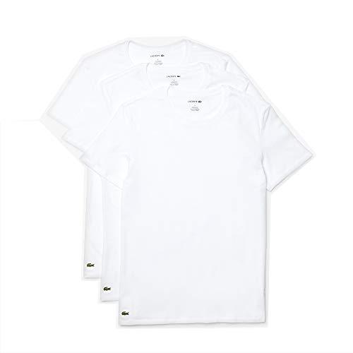 Lacoste Essentials – Camisetas de Cuello Redondo para Hombre, 3 Unidades, 100% algodón, Ajustadas,…