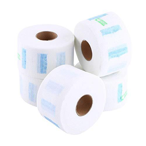 5pcs/ensemble blanc jetable cou couvrant papier rouleaux paper ménage cheveux coupe accessoire de coiffure outils confortable et respirant