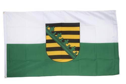 Flaggenfritze® Fahne Flagge Sachsen 90 x 150 cm Premiumqualität